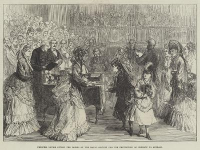 Princess Louise Giving the Prizes of the Royal Society for the Prevention of Cruelty to Animals-Charles Robinson-Giclee Print