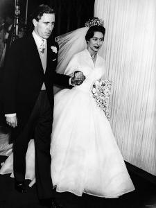 Princess Margaret and Lord Snowdon Hold Hands as They Leave Westminster Abbey After Royal Wedding