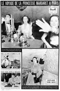 Princess Margaret in Paris, Page from 'Radar' Magazine, Published December 2 1951