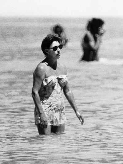 Princess Margaret on Holiday in Mustique Roddy Llewellyn is Staying on the Same Island--Photographic Print