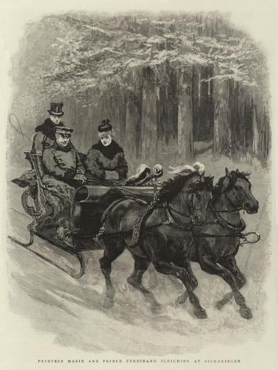 Princess Marie and Prince Ferdinand Sleighing at Sigmaringen--Giclee Print