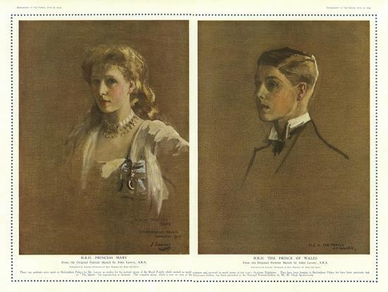 Princess Mary and the Prince of Wales-Sir John Lavery-Giclee Print