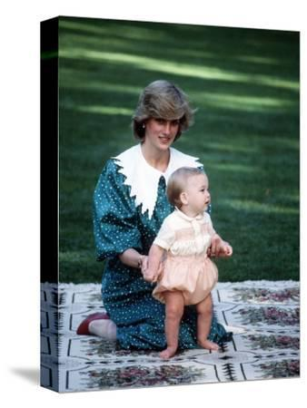 Princess of Wales with William in New Zealand, April 1983