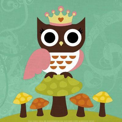 Princess Owl-Nancy Lee-Art Print