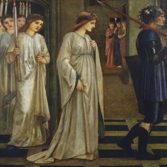 Princess Sabra Led to the Dragon-Edward Burne-Jones-Giclee Print