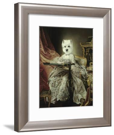 Princesse Brodeuse-Thierry Poncelet-Framed Premium Giclee Print