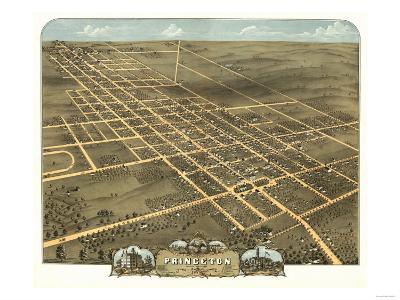 Princeton, Illinois - Panoramic Map-Lantern Press-Art Print