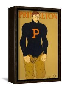 Princeton Poster, Burly Football Player