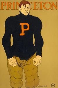 Princeton Poster, Burly Football Player