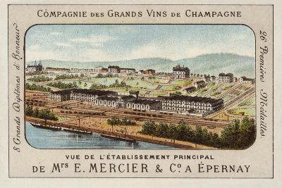 Principal Establishment of E Mercier and Co, Champagne Producers, Epernay, France--Giclee Print