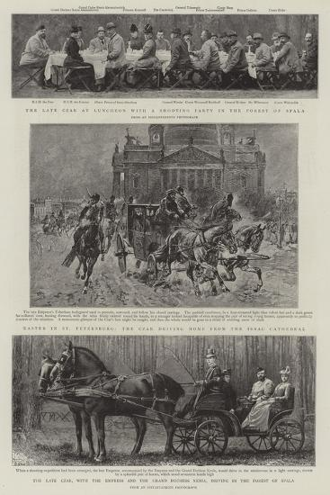 Principal Events in the Life of the Late Czar--Giclee Print