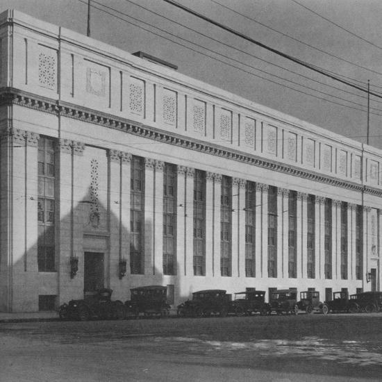 Principal facade of the Masonic Temple, Birmingham, Alabama, 1924-Unknown-Photographic Print
