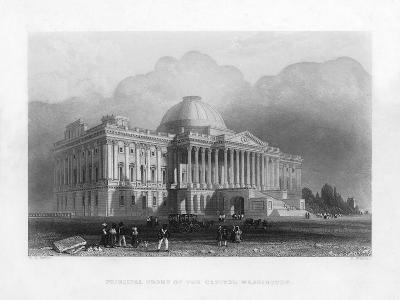 Principal Front of the Capitol, Washington, C1820-R Brandard-Giclee Print