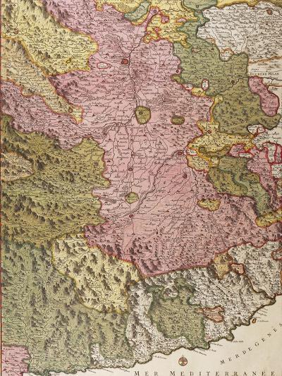 Principality of Genoa, Map, Paris-Nicolas Sanson-Giclee Print
