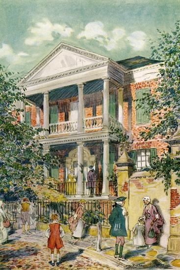 Pringle House, Charleston, South Carolina, USA, C18th Century-James Preston-Giclee Print