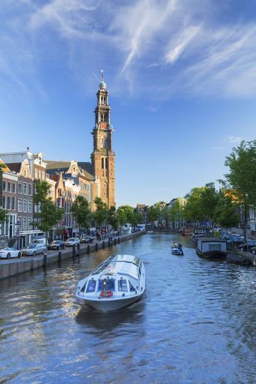 Prinsengracht canal and Westerkerk, Amsterdam, Netherlands-Ian Trower-Photographic Print
