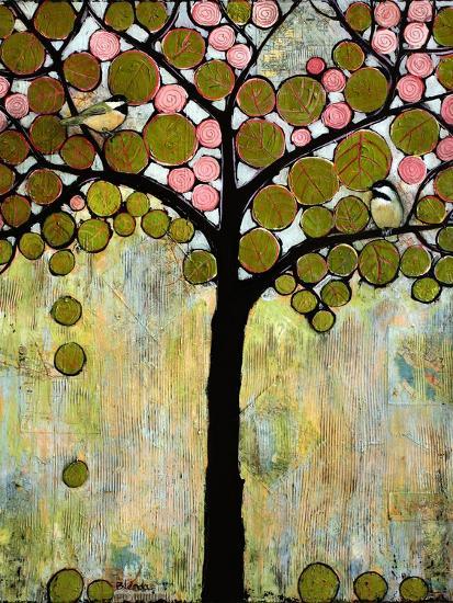 Print Art Chickadee Tree-Blenda Tyvoll-Art Print
