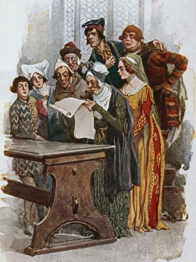 Print Depicting a Scene from Gianni Schicchi, 1922-Giacomo Puccini-Giclee Print