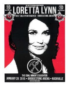 Loretta Lynn Nashville by Print Mafia