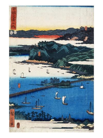 Print of Coastal Scene by Hiroshige-Stefano Bianchetti-Giclee Print