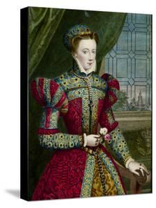 Print of Mary Queen of Scots after Portrait by Zuccaro