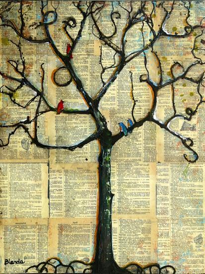 Print Tree of Life Mixed Media Painting-Blenda Tyvoll-Art Print