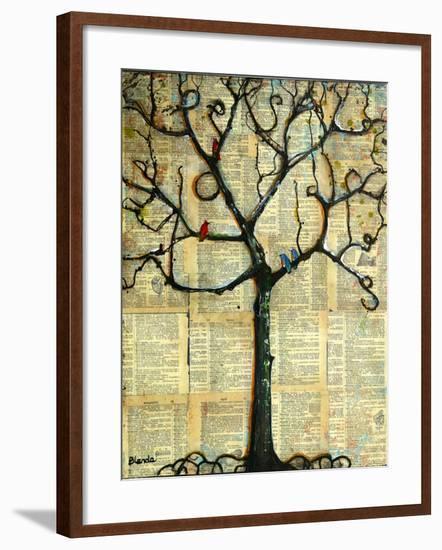 Print Tree of Life Mixed Media Painting-Blenda Tyvoll-Framed Art Print