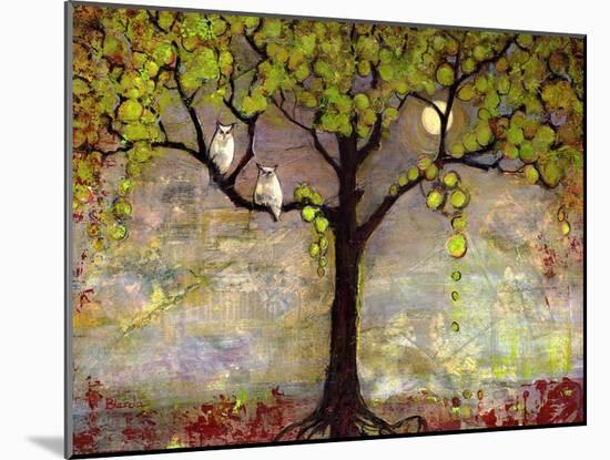 Print with Owls Moon River Tree-Blenda Tyvoll-Mounted Art Print