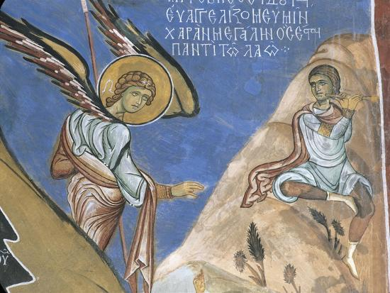 1192-fresco-depicting-angel-giving-announcement-to-shepherds