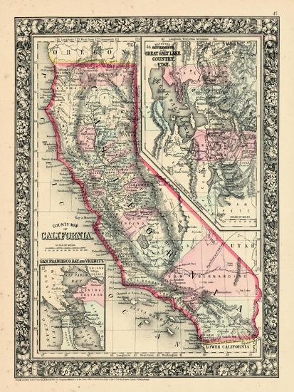 1864 california utah san francisco bay mitchell plate for California chiude l utah
