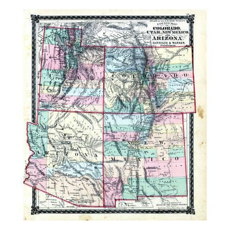 1876-county-map-of-colorado-utah-new-mexico-and-arizona-united-states