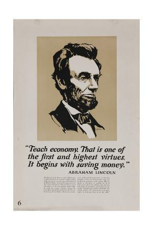 1920s-american-banking-poster-abe-lincoln-teach-economy
