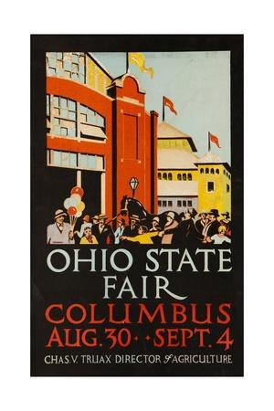 1926 ohio state fair columbus giclee print at for Craft show ohio state fairgrounds