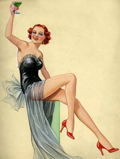 1940s uk pin ups poster giclee print at. Black Bedroom Furniture Sets. Home Design Ideas