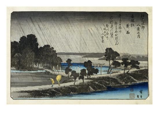 19th-century-woodblock-print-with-river-scene-by-utagawa-hiroshige