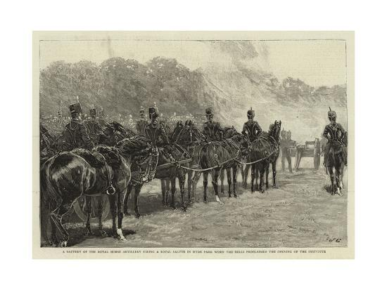 a-battery-of-the-royal-horse-artillery-firing-a-royal-salute-in-hyde-park-when-the-bells-proclaimed