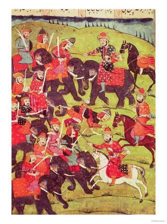 a-battle-scene-from-the-shahnama-book-of-kings-by-abu-l-qasim-manur-firdawsi-c-934-c-1020