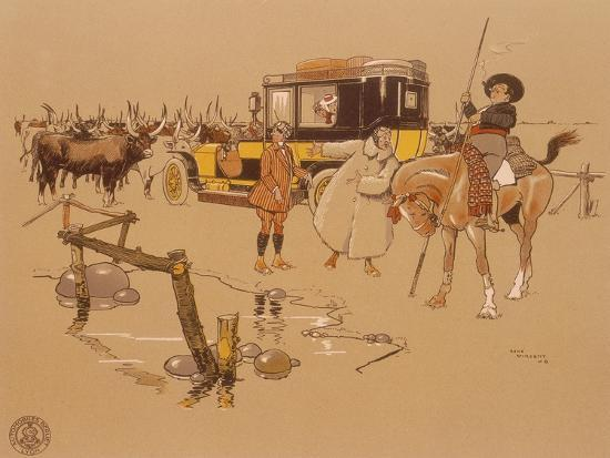 a-berliet-car-stuck-in-the-middle-of-cattle-1906