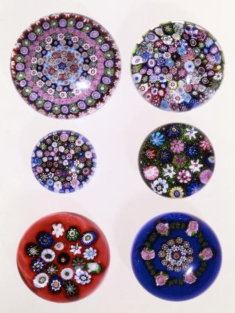a-collection-of-clichy-millefiori-weights