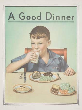 a-good-dinner-poster