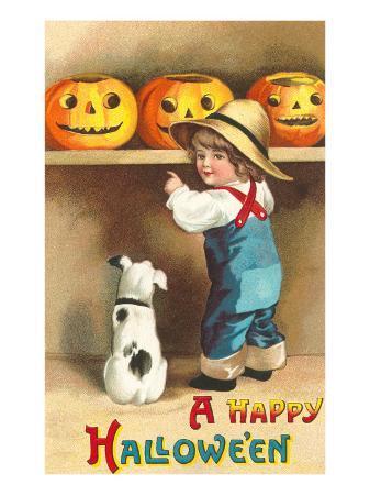 a-happy-halloween-dog-and-boy-with-jack-o-lanterns