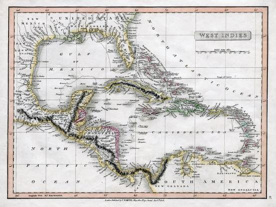 a-map-of-the-west-indies-1808