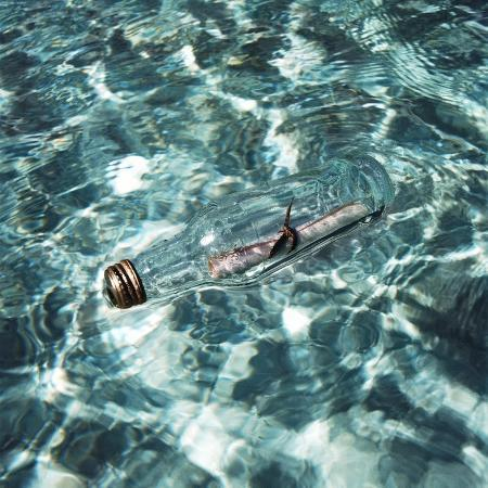 a-message-in-a-bottle-adrift-at-sea