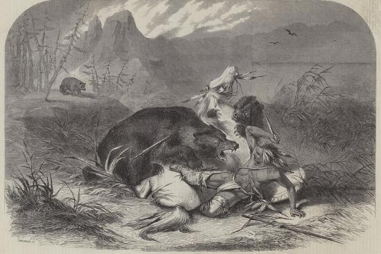 a-pawnee-indian-attacked-by-grizzly-bears