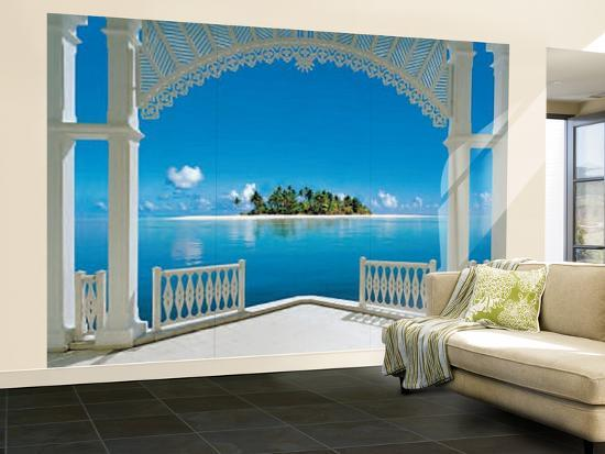 a perfect day balcony wall mural wallpaper mural at. Black Bedroom Furniture Sets. Home Design Ideas
