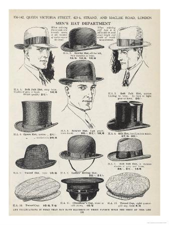 a-variety-of-men-s-hats