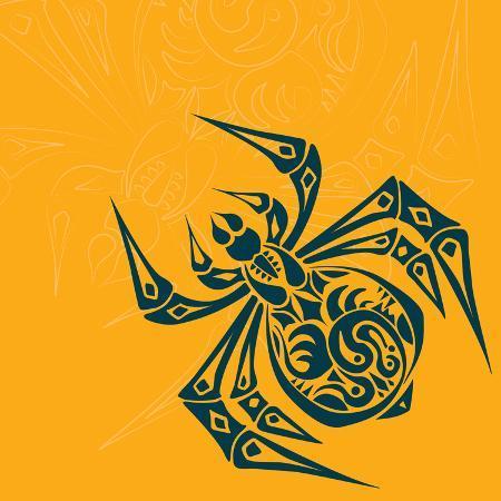 achupret-spider-tribal-tattoo