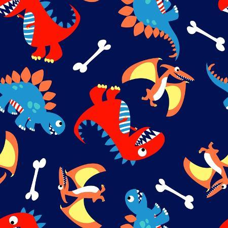 adam-fahey-3-cute-dinosaurs-in-a-seamless-pattern