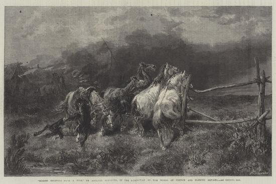 adolf-schreyer-horses-escaping-from-a-fire