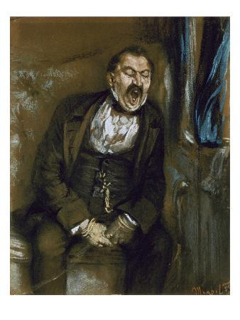 adolph-von-menzel-man-yawning-in-a-railway-carriage-1859